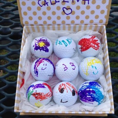 grandparents day gift ideas - custom golf balls