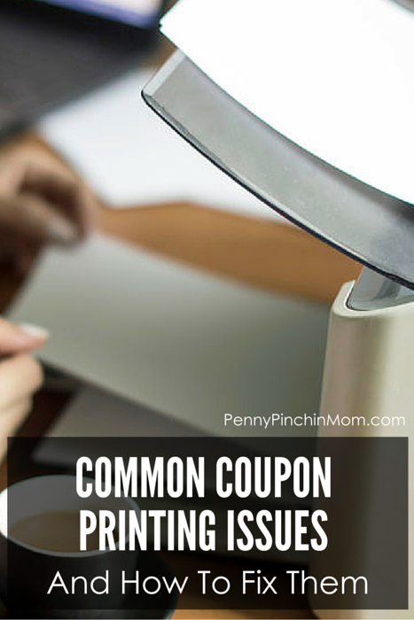 Many times there are issues when you try to print your coupons. It can be frustrating. This is a list of the most common issues and how you can deal with them.