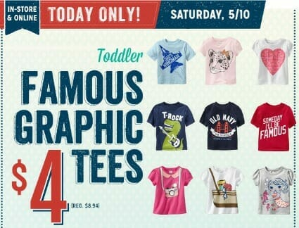 grapic tees at old navy | www.pennypinchinmom.com