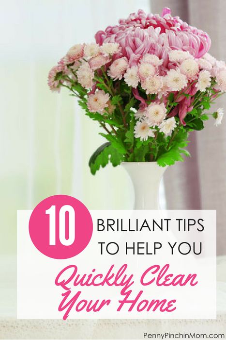 10 simple tips to quickly clean your home in no time