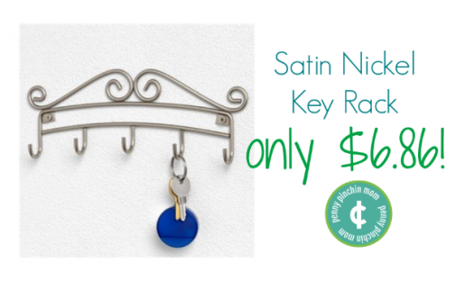 Satin Nickel Key Rack www.pennypinchinmom.com