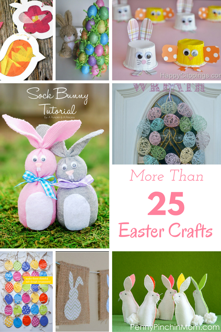 25 easter crafts for adults children for Spring craft ideas for adults