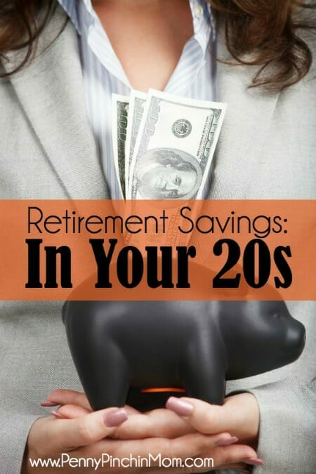 Retirement savings in your 20s! You are in the PERFECT position to save now for a very comfortable retirement!
