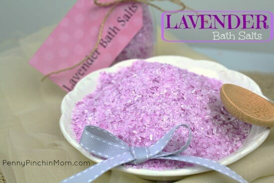 Make your own lavendar bath salts for MUCH less than you pay for them in the store!!!