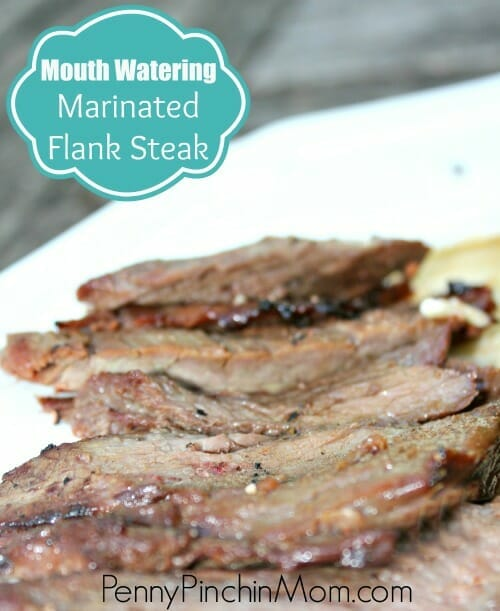 Flank Steak can often be dry and chewy...but not this recipe!!  Once you make this mouth watering flank steak, you will never make it any other way again!!