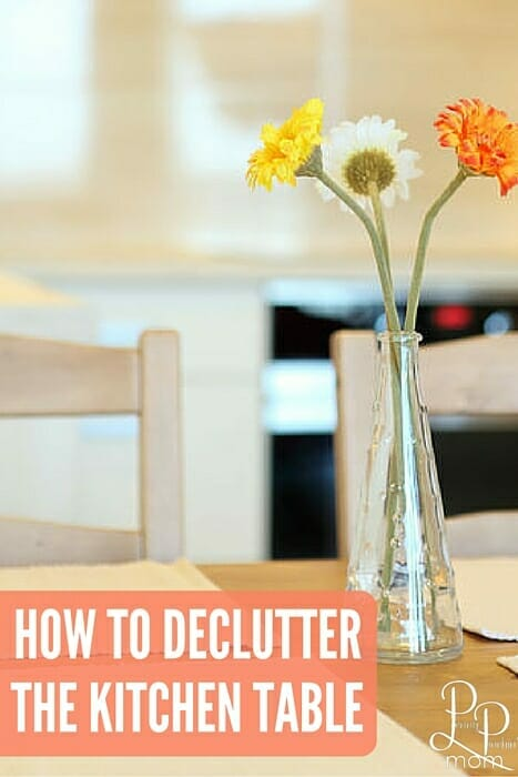 Check out these simple tips on how to organize and declutter the dining room table!