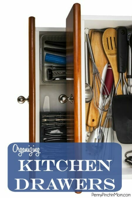 It is possible to organize your kitchen drawers.  Just head over and get our best tips to organize this and every space in your home!!