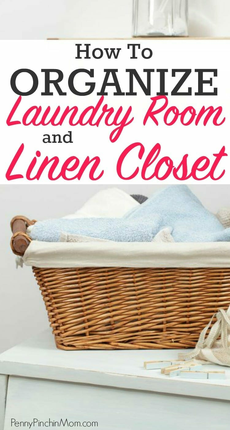 how to organize the laundry room and linen closet. Black Bedroom Furniture Sets. Home Design Ideas