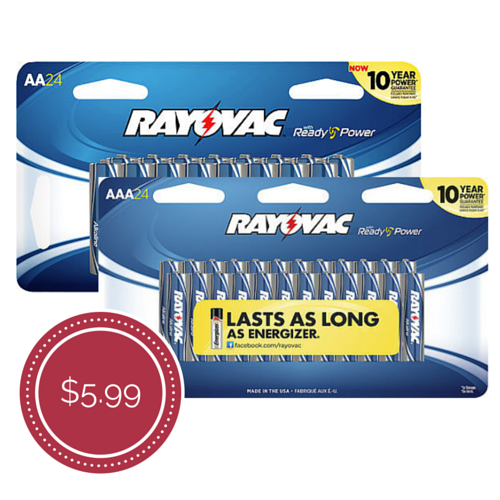 best price rayovac batteries