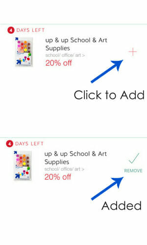 Adding Savings Target Cartwheel