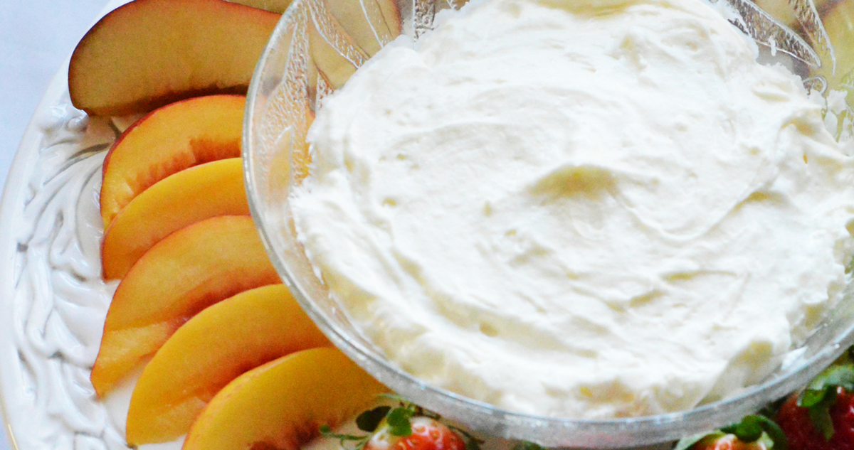 Two Ingredient Fruit Dip
