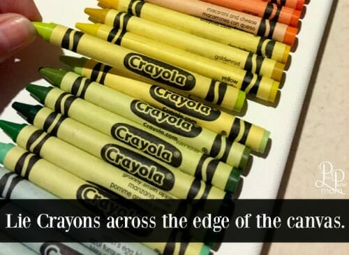 melted crayons canvas dry fit