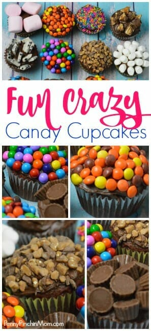 crazy candy cupcakes