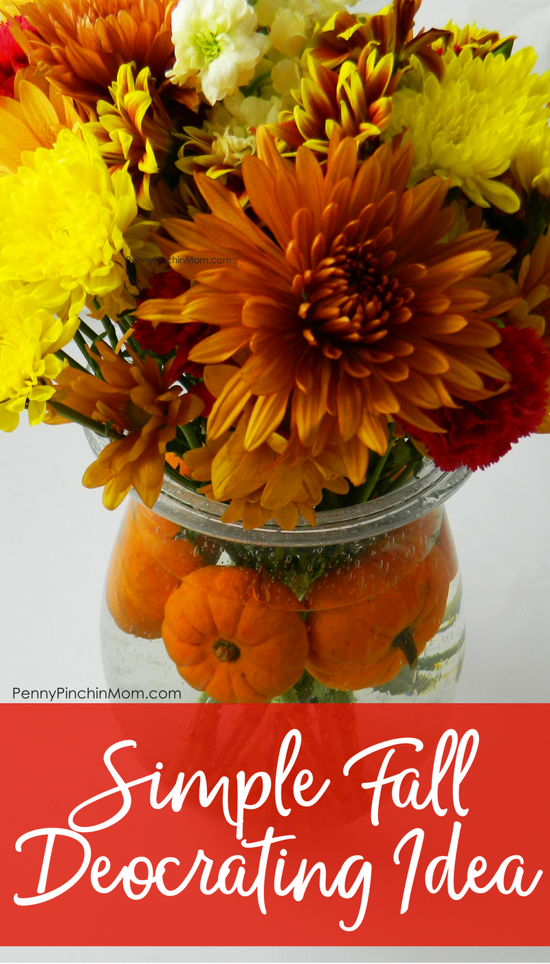 fall decorating idea: easy pumpkin centerpiece