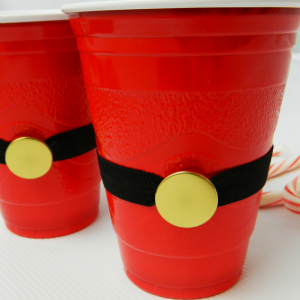 Santa Cups with reusable belts