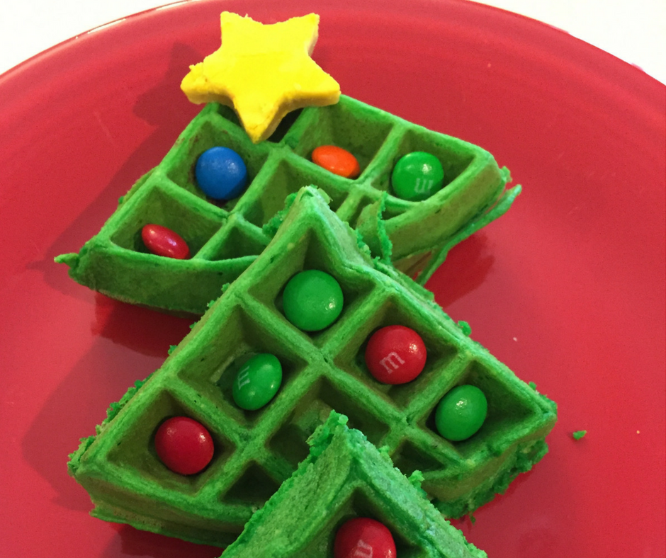 Christmas Tree Waffles