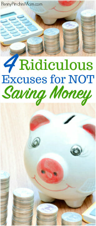 not saving money excuses