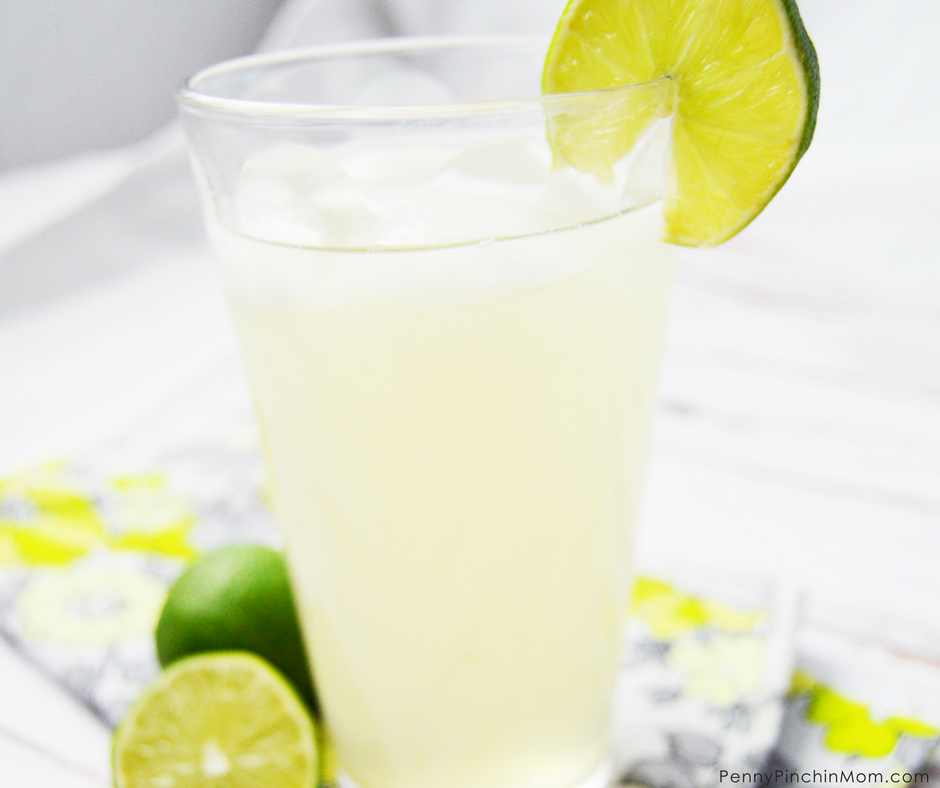 glass with limeade