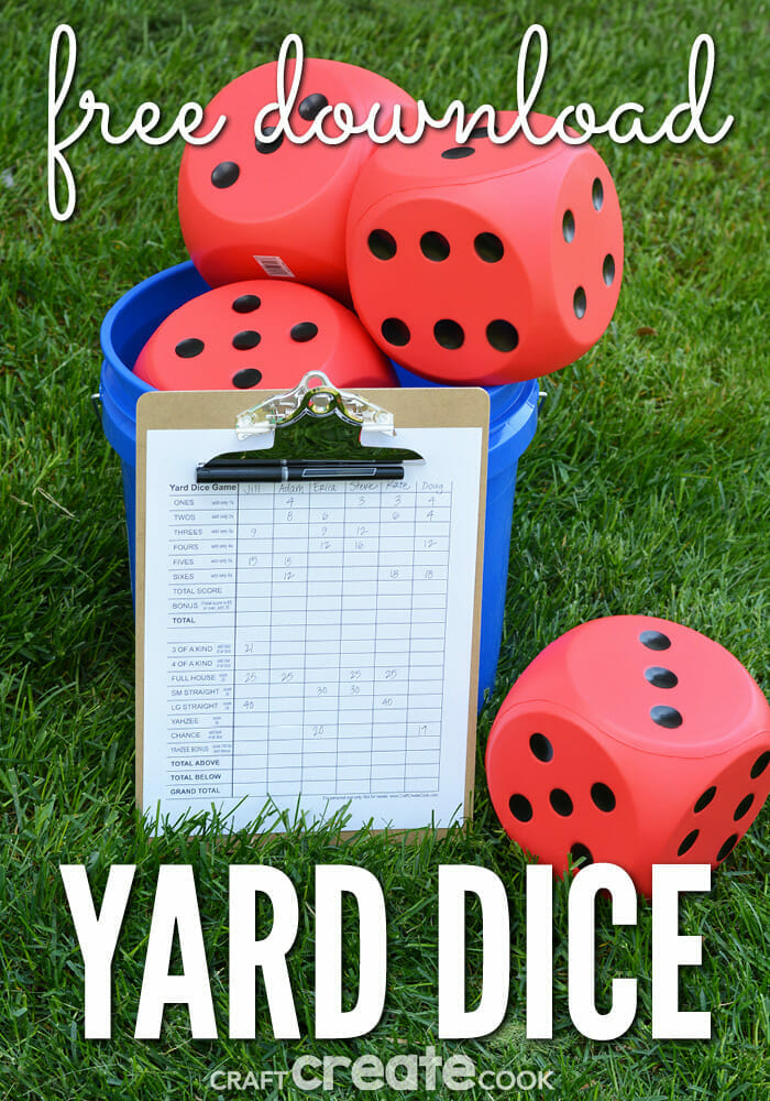 17 do it yourself outdoor games for your next party lawn dice game solutioingenieria Choice Image