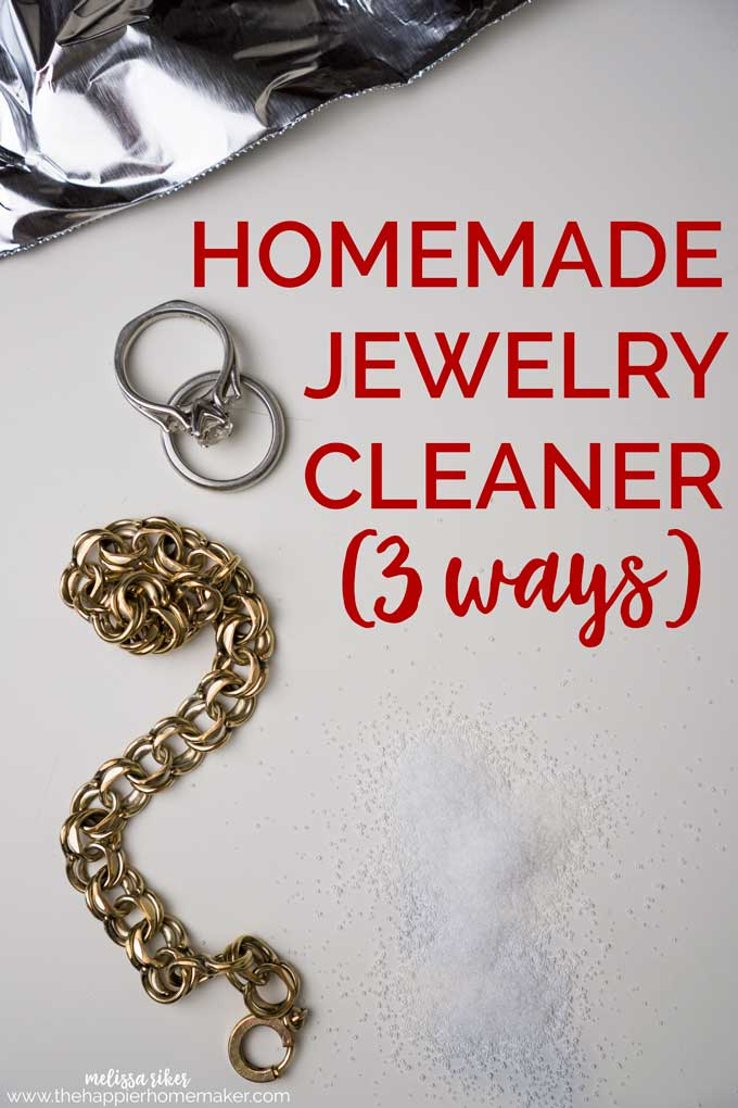 Natural cleaner for jewelry