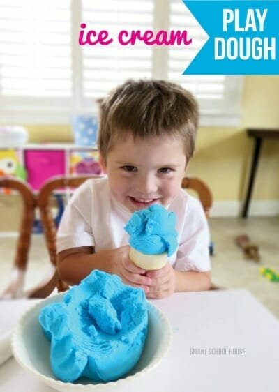 sensory ideas - ice cream play dough