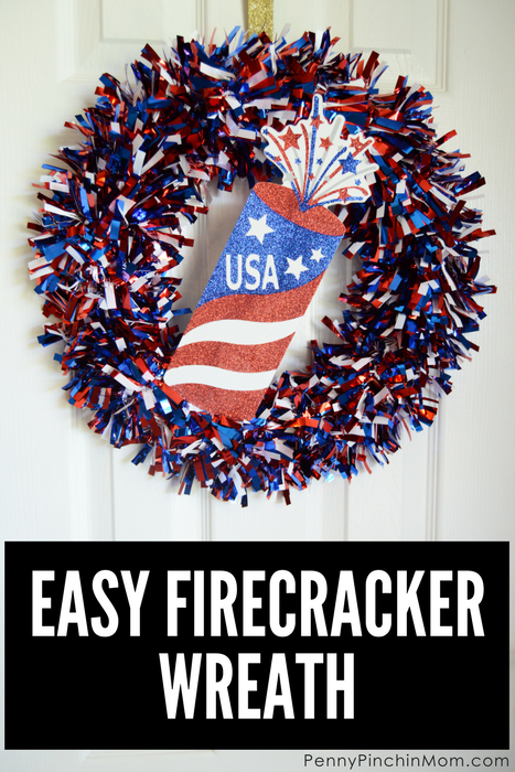 Easy Firecracker Wreath
