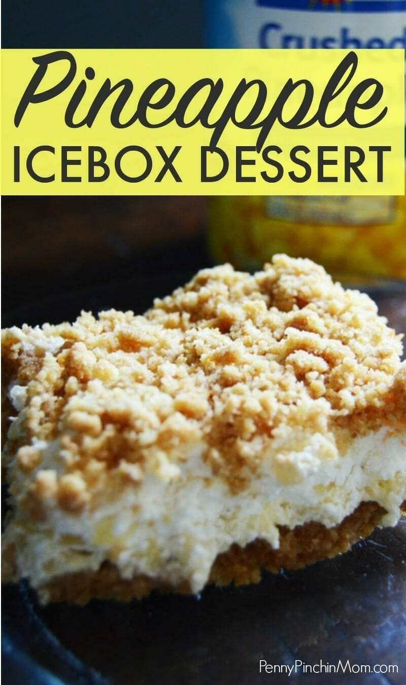 We love this pineapple icebox dessert for a summer picnic or BBQ.  It is easy to make but tastes like you spent hours in the kitchen! Try this simple summertime dessert recipe for your July 4th or Memorial Day party!  Pineapple Icebox Dessert | Pineapple Dessert | Easy Summer Dessert | Pineapple Dream | Pineapple Fluff | Pineapple Cream Cheese Dessert | Icebox Dessert   #pineapple #easydesserts #dessertideas #picincideas