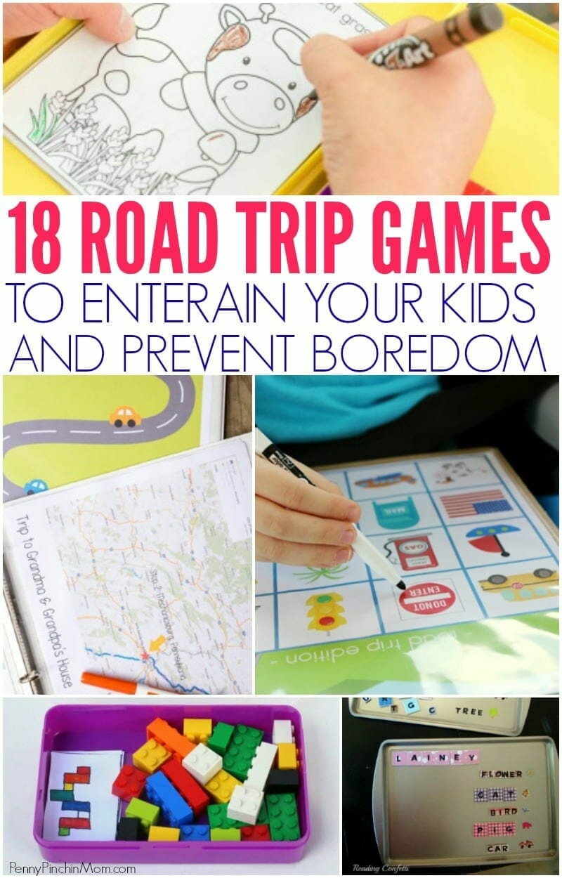 Lots of fun road trip ideas for the kids for your next family vacation.  Lots of games and printables you can use to entertain the kids and prevent them from getting bored on your next vacation.  Kids Travel Games | Family Vacation Ideas | Kids car entertainment | kids road trip ideas  #vacation #roadtrip #kids #familyvacation