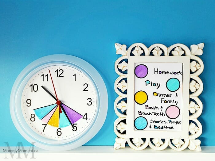 back to school organization schedule clock