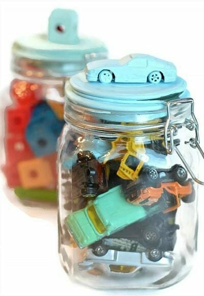 toy storage ideas - jars