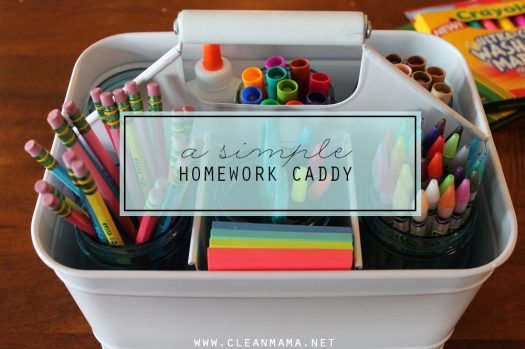 back to school organization ideas - homework caddy