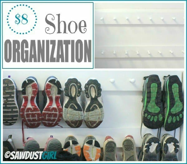back to school organization - shoes