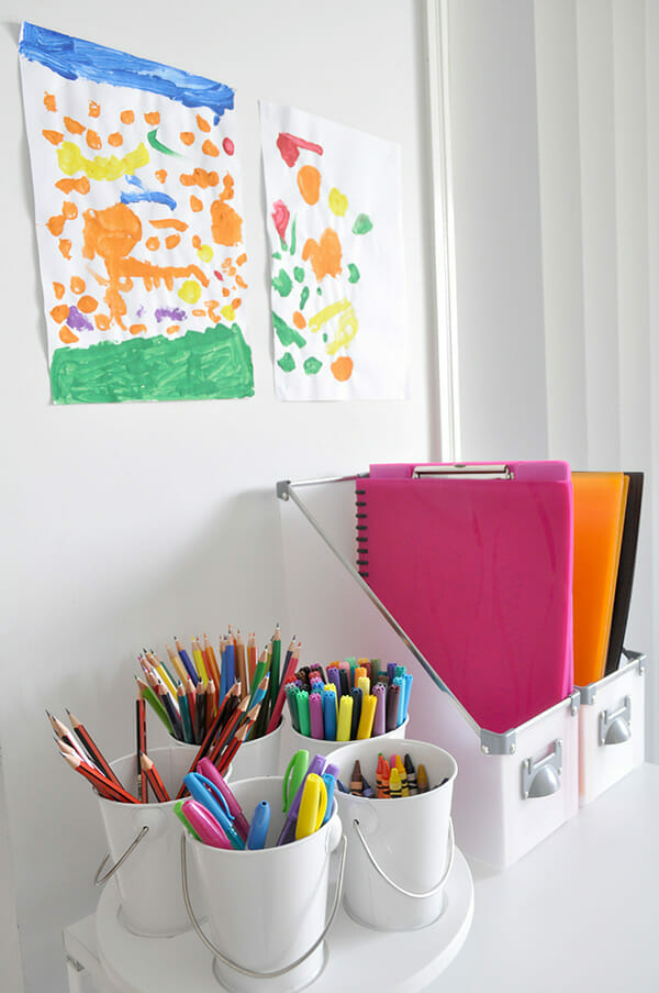 back to school organizing ideas - homework station