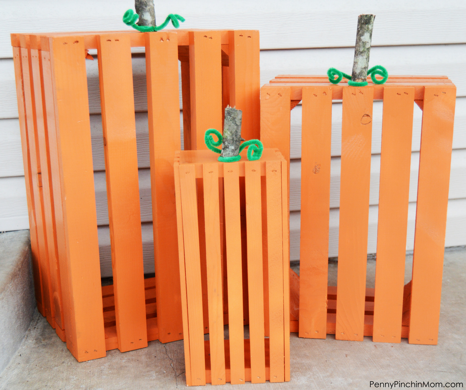 Wooden Crate Pumpkins