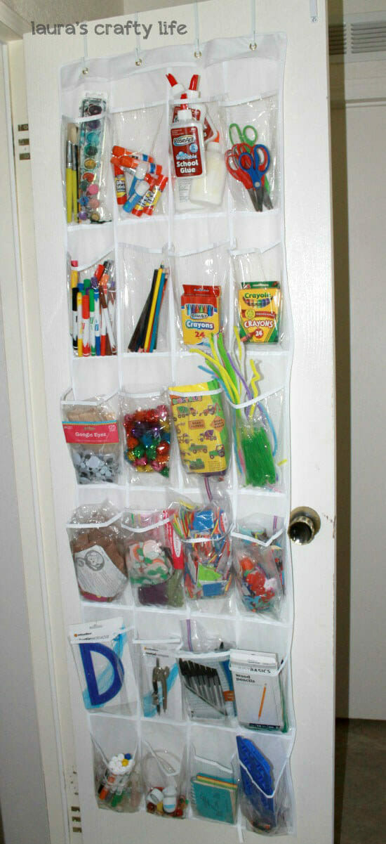 back to school organizing ideas - school supplies