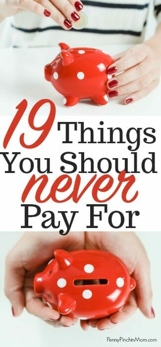 things you should never pay for