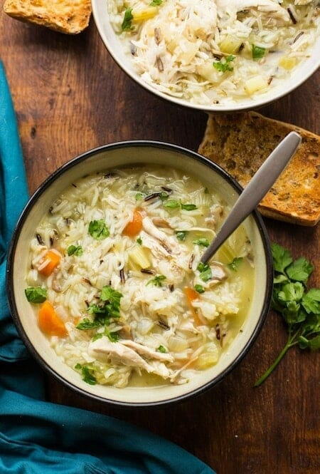 Chicken and Wild Rice instant pot soup