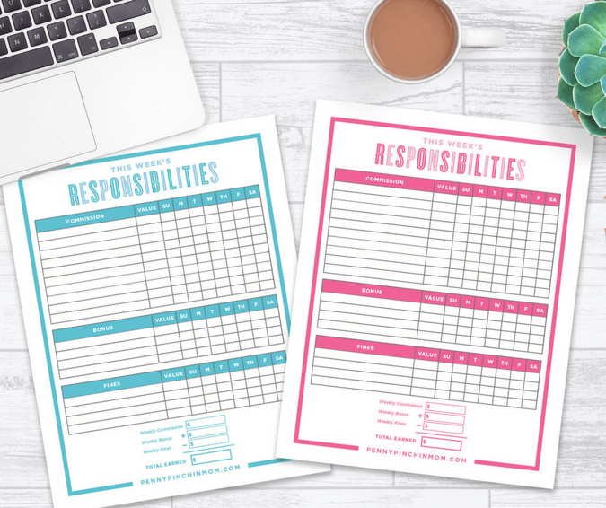 picture about How to Create a Printable identified as The Perfect Course towards Generate a Chore Chart within just 2019 (Absolutely free Printable)