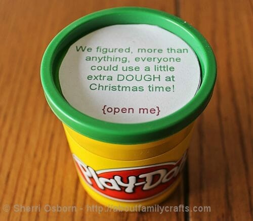 how to give money as a gift - play-doh