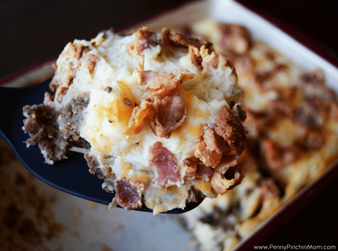 meatloaf casserole; meatloaf with potatoes and bacon