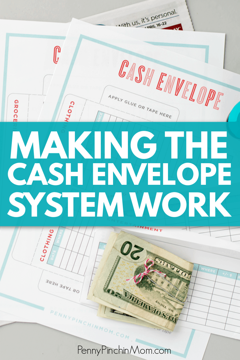 How to create and use a cash budget system.  Get envelope printables so you can learn how to control your spending, manage your money and get out of debt.